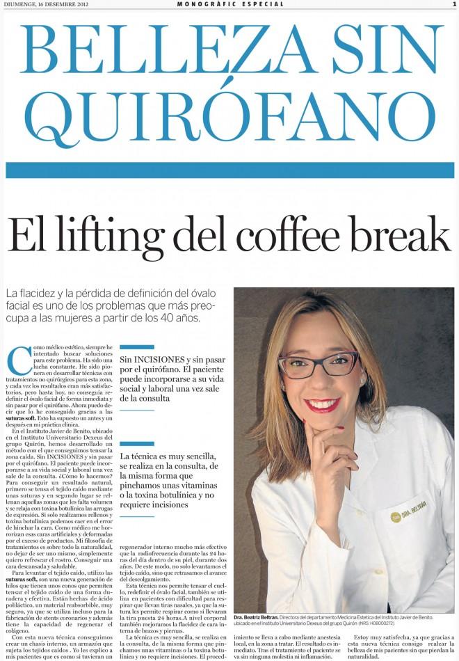 El lifting del coffe break